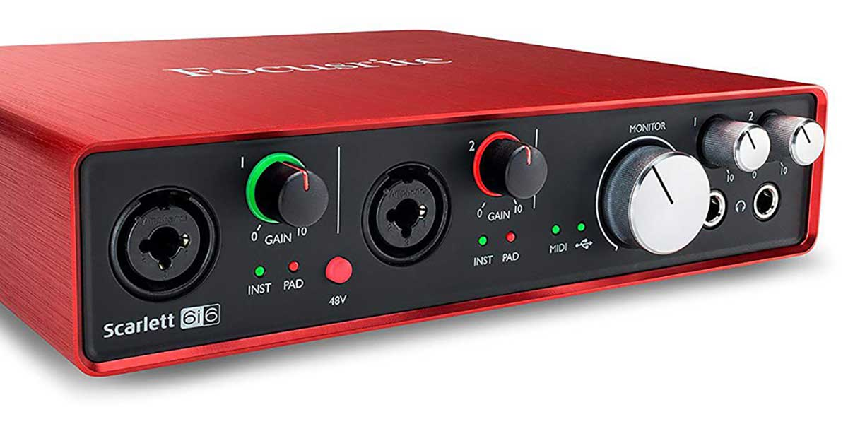 What is the gain on an audio interface