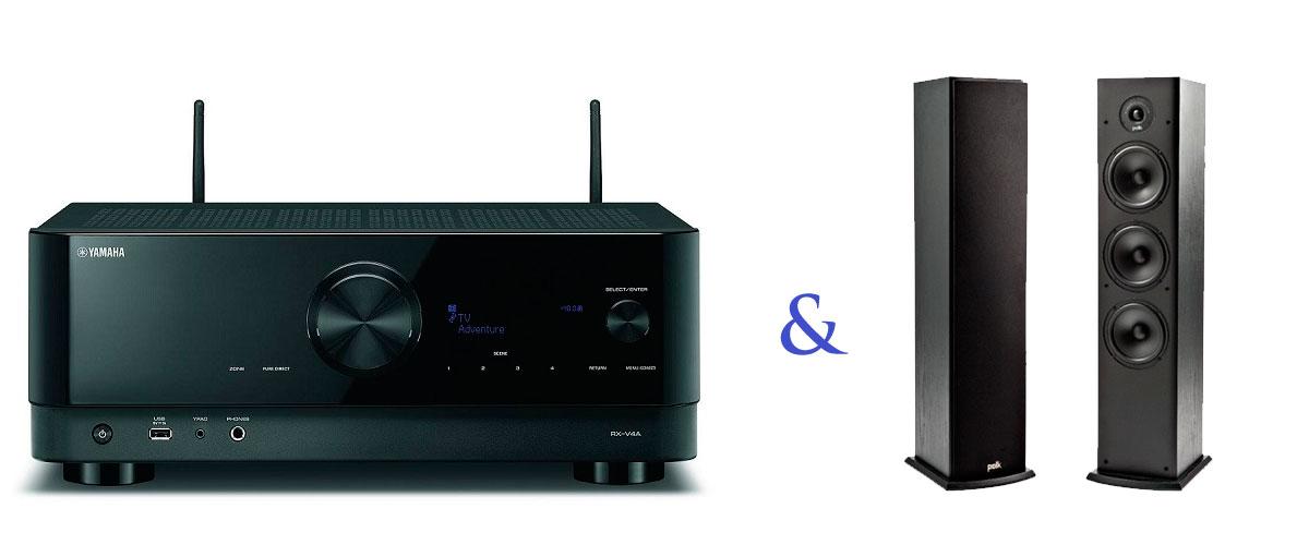 YAMAHA RX-V4A + Polk Audio T50